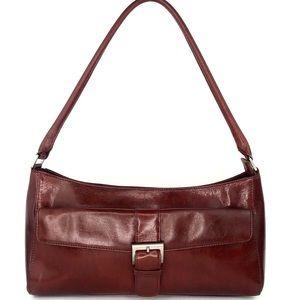 Hobo Brown Leather Satchel Shoulder Bag